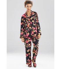 natori seville pajamas, women's, black, size s natori