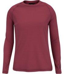 camisa segunda pele manga longa nord outdoor under basic - feminina - rosa escuro