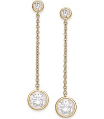 eliot danori crystal linear drop earrings, created for macy's