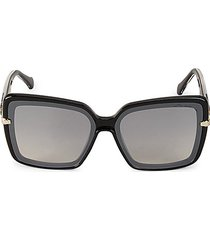 injected 65mm oversized square sunglasses