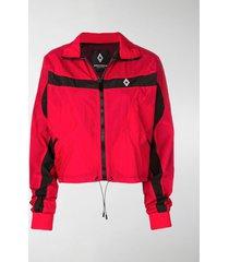marcelo burlon county of milan logo print jacket