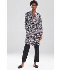 ombre leopard sleep/lounge/bath wrap/robe, women's, grey, size l, n natori