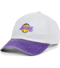 mitchell & ness los angeles lakers hardwood classic punch in strapback cap