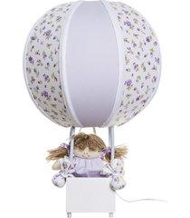 abajur balãozinho potinho de mel lilás