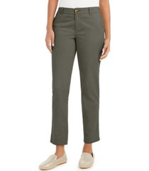 style & co petite straight-leg chino pants, created for macy's