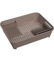 escorredor de louças basic 45x35x10,5cm warm gray - 10848/0126 - coza - coza