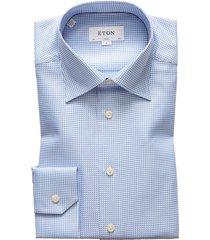 eton slim fit shirt blauw