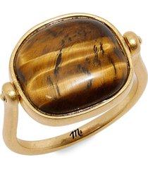 women's madewell tiger's eye swivel ring