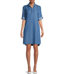emelia tencel shirt dress