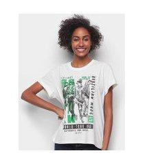 camiseta colcci rock revolution feminina