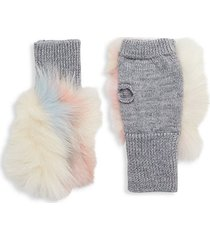 insomniac fox fur fingerless mittens