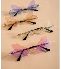 1pc dragonfly wings shape gafas de sol sin montura