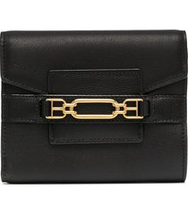 bally two-tone leather wallet - black