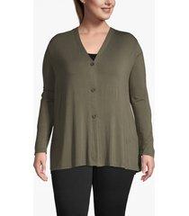 lane bryant women's button-front cardigan 14/16 grape leaf
