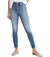 madewell 10-inch high waist crop skinny jeans, size 31l in sheffield wash at nordstrom