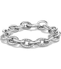 david yurman 'oval' large link bracelet, size 7.5 in in silver at nordstrom