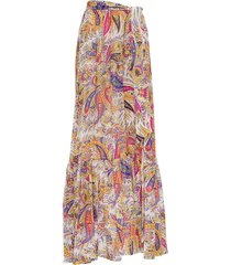 etro long floral zante skirt in cotton blend