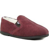 sapato conforto forrada em lã sintética, camurça malbec feminina