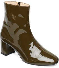 bootie - block heel - with zippe shoes boots ankle boots ankle boot - heel grön angulus