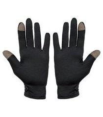 luva segunda pele térmica frio touch screen unissex preto
