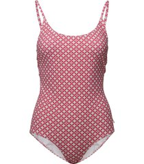 leola pattern swimsuit baddräkt badkläder rosa morris lady