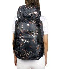 morral viajero plegable estampado jazmin citybags multicolor
