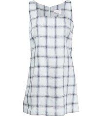charlotte windowpane print dress