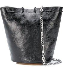 maison margiela small drawstring crossbody bag - black