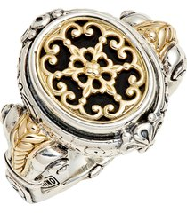 konstantino calypso signet ring, size 6 in silver/gold at nordstrom