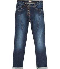 "bio-jeans ""de modieuze"", donkerblauw 42/l34"