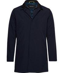 philman p new tec structure dunne lange jas blauw matinique