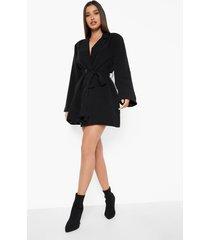 oversized blazer jurk met wijde mouwen, black