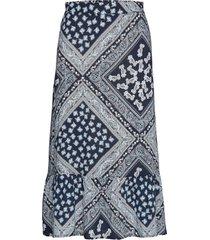 sc-evita knälång kjol blå soyaconcept