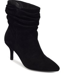 agnete slouchy shoes boots ankle boots ankle boots with heel svart shoe the bear