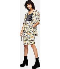 idol longer length slouch leaf print shorts - multi