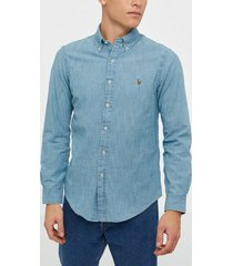 polo ralph lauren long sleeve indigo chambray shirt skjortor light