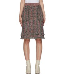 side pockets tweed skirt