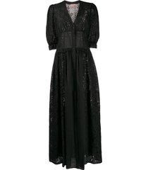 ermanno scervino cut-out day dress - black