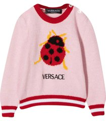 young versace pink sweater
