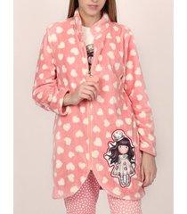 pyjama's / nachthemden admas binnenjasje liefdeshart santoro fuchsia