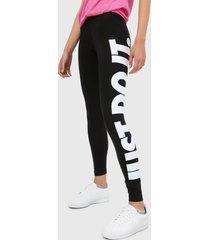 leggings negro-blanco nike essential high-rise