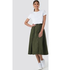 na-kd trend cargo a-line ankle skirt - green