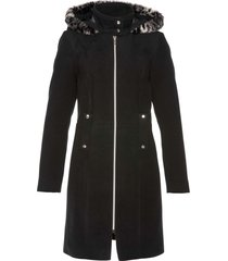 cappotto con ecopelliccia (nero) - bpc selection