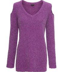 maglione in ciniglia con lurex (viola) - bodyflirt