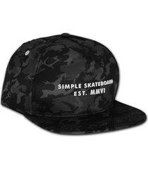 boné simple skateboard snapback camuflado