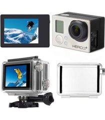 lcd bacpac toggle display viewer + back screen door case for gopro hero 3 3+ 4