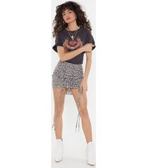 womens a good time to heart ruched mini skirt - cream