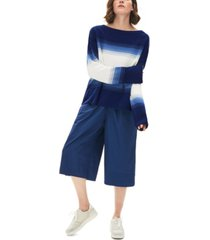 lacoste cotton ombre striped sweater