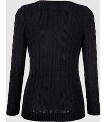 tröja med flätmönster dress in svart