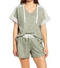 women's caslon texture play hoodie, size xx-small - green